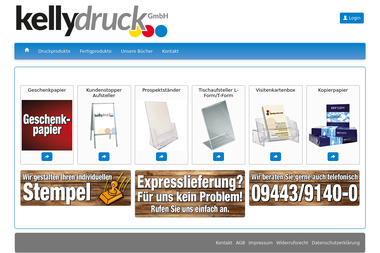 kelly-druck-shop.de - Druckerei Abensberg
