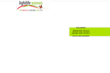 lightlife-women.de - Personal Trainer Hassfurt