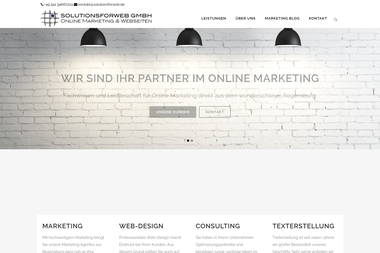solutionsforweb.de - Online Marketing Manager Regensburg