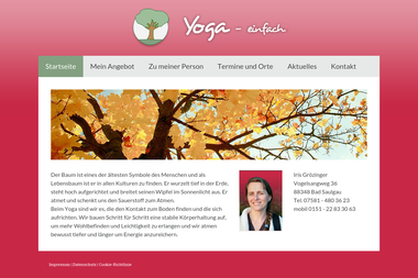 yoga-einfach.de - Yoga Studio Bad Saulgau