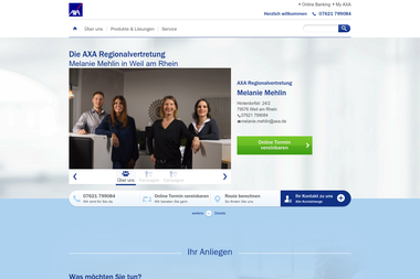 axa-betreuer.de/Melanie_Mehlin - Marketing Manager Weil Am Rhein