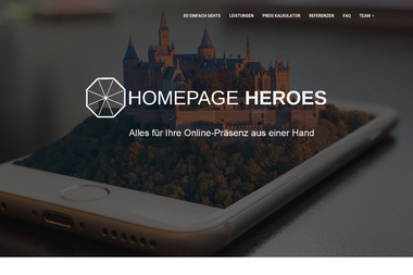 Home Page Heroes GbR - Webdesign Geislingen